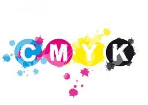 Abstrakt CMYK Farbkleckse